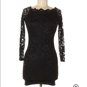 ASOS Black Lace Body Con Dress Women's Size 4